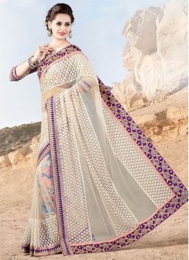 Engrossing Sequins And Embroidery Work Designer Saree
