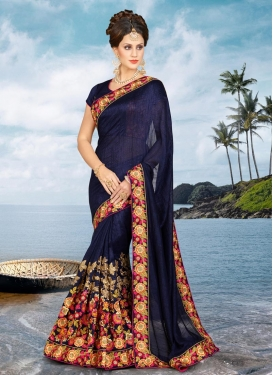 Engrossing Silk Georgette Trendy Saree