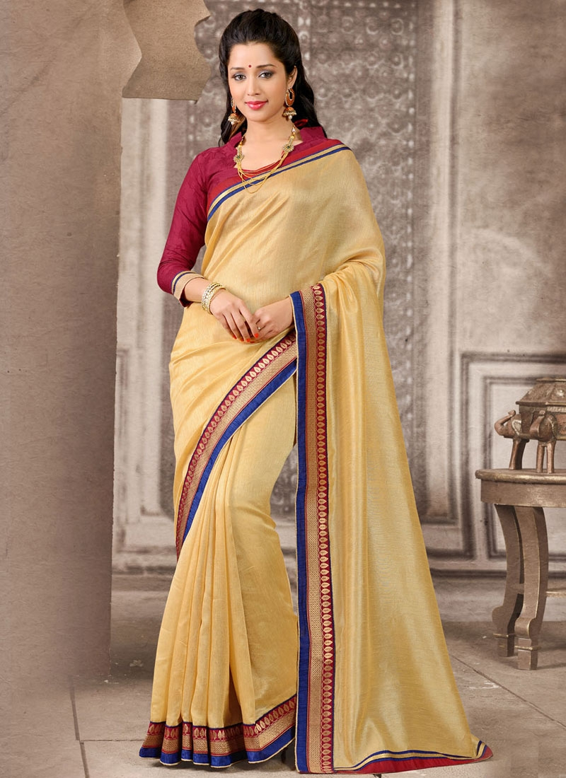 Enthralling Beige Color Manipuri Silk And Cotton Casual Saree