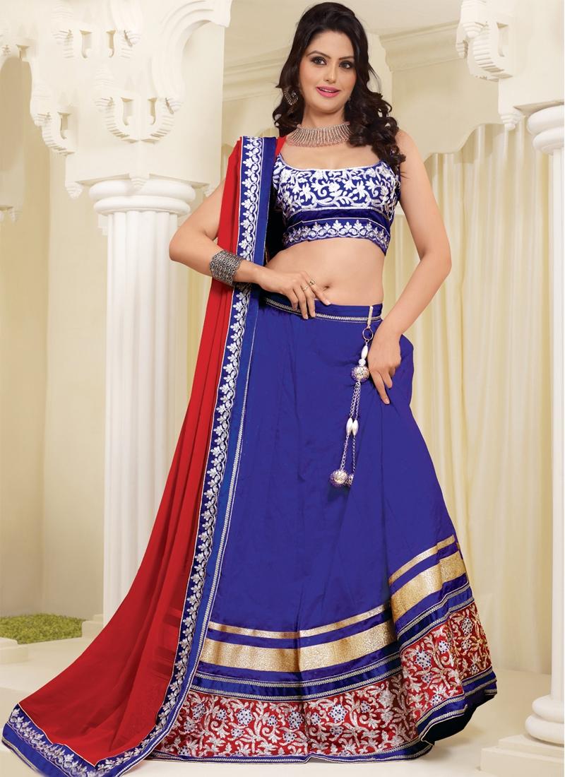 Enthralling Blue Color Party Wear Lehenga Choli