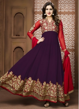Enthralling Booti Work Ankle Length Anarkali Suit For Ceremonial