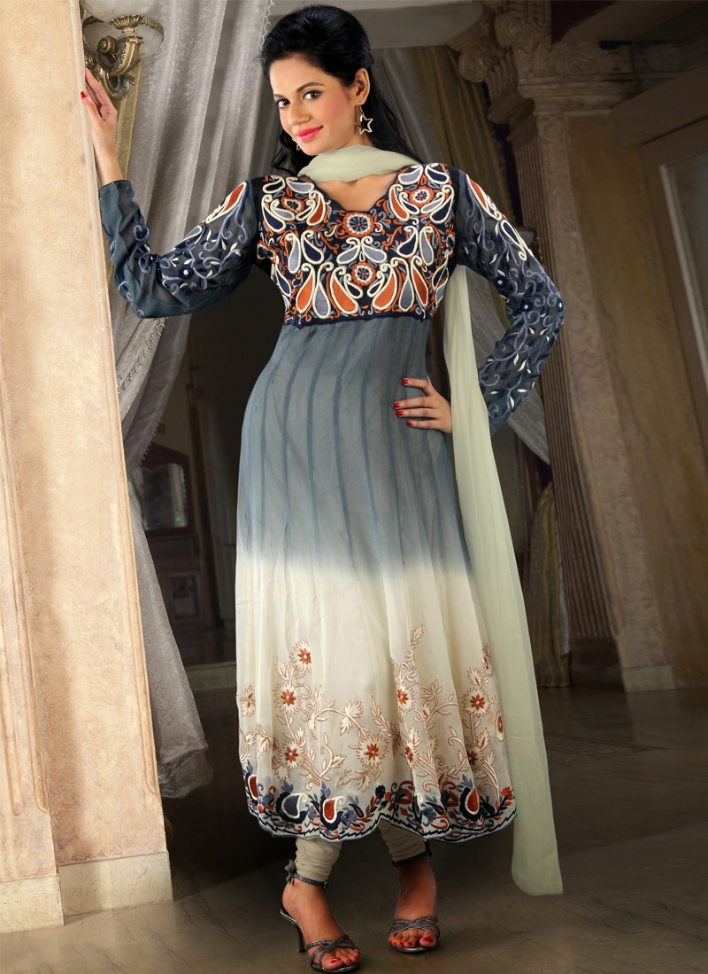 Enthralling Georgette Readymade Anarkali Suit