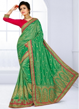 Enthralling Jacquard Silk Trendy Saree
