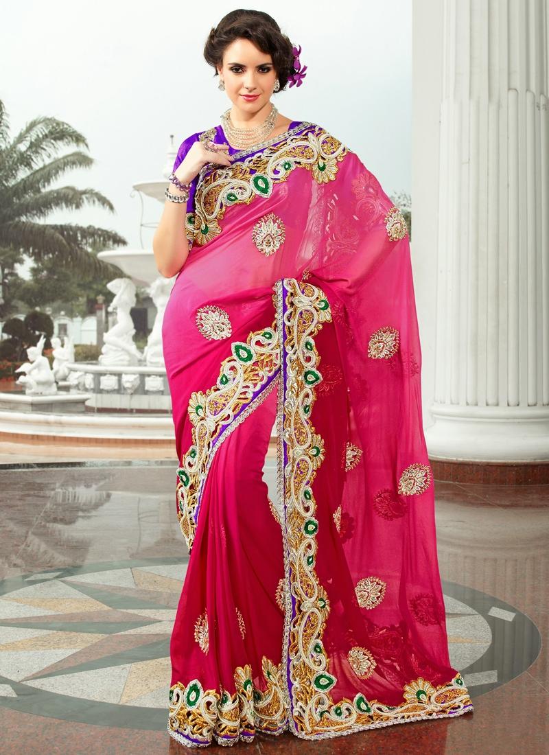 Enthralling Patch Enhanced Wedding Saree