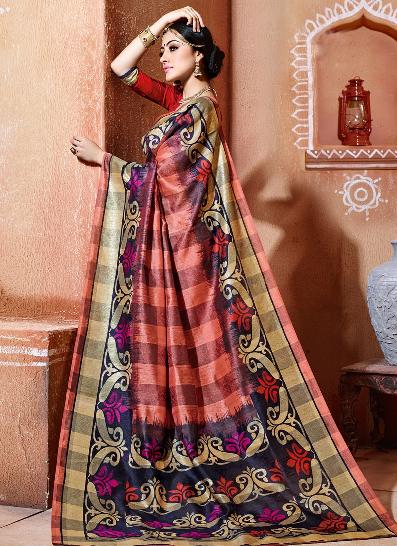 Enthralling Printed Casual Saree