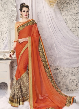 Enticing Faux Georgette Classic Designer Saree