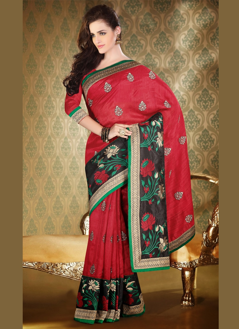 Enticing Patch Enhanced Party Wear Saree