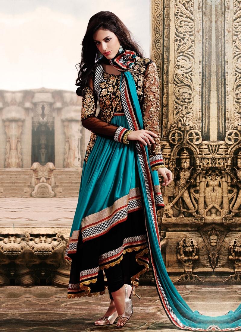 Enticing Stone Enhanced Designer Salwar Kameez