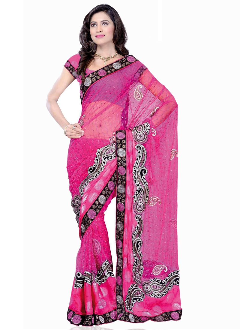 Enticing Stone Enhanced Party Wear Saree