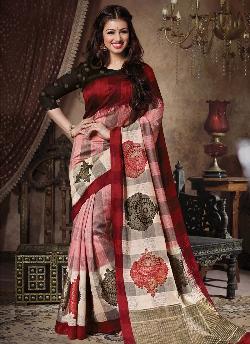 Entrancing Art Silk Ayesha Takia Casual Saree