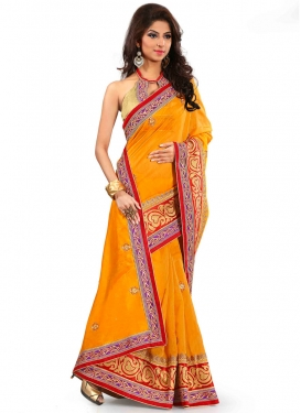 Entrancing Patch Border Work Party Wear Saree