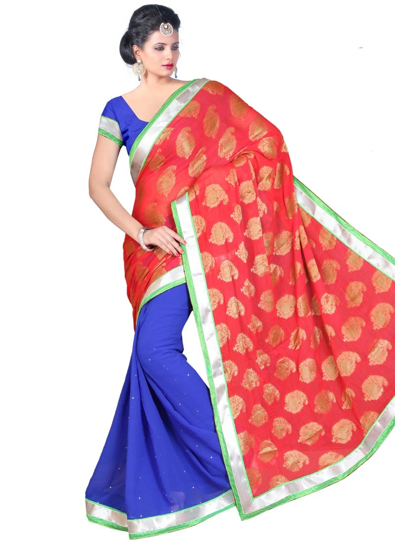 Entrancing Viscose Half N Half Party Wear Saree