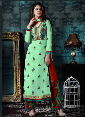 Epitome Embroidered Work Banglori Silk Palazzo Style Pakistani Salwar Suit
