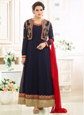 Epitome  Embroidered Work Jacket Style Anarkali Suit