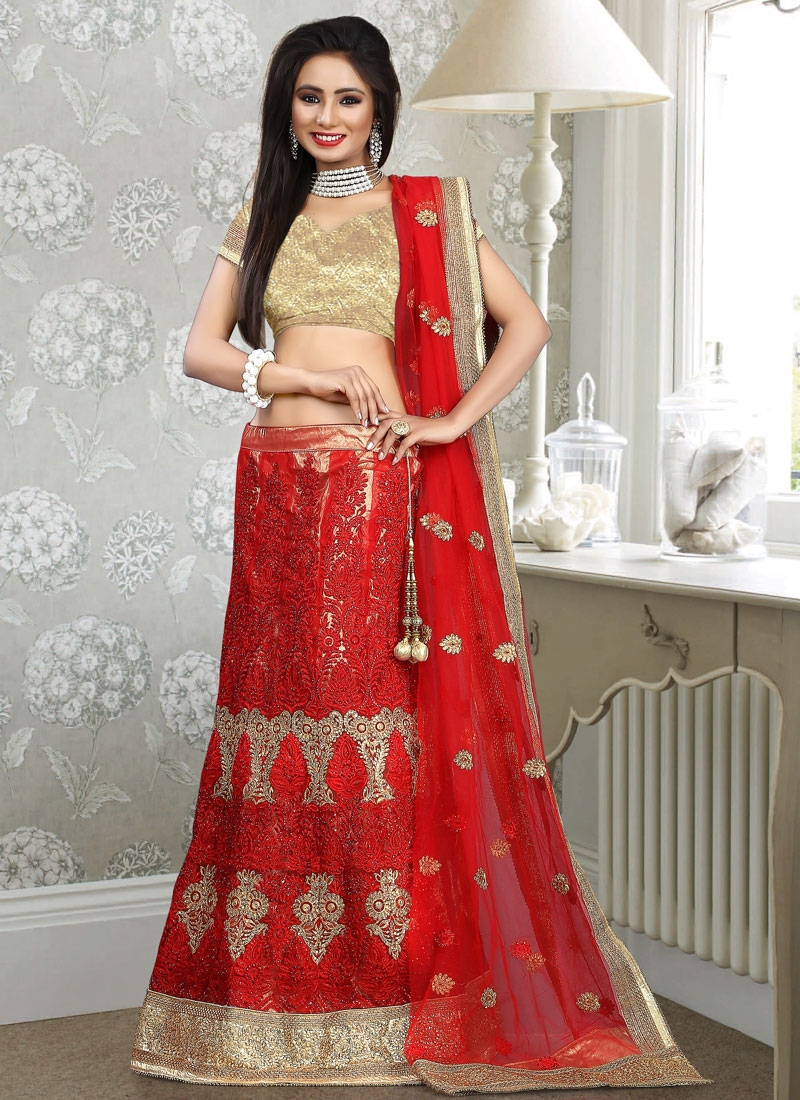 Epitome Stone And Resham Work Bridal Lehenga Choli