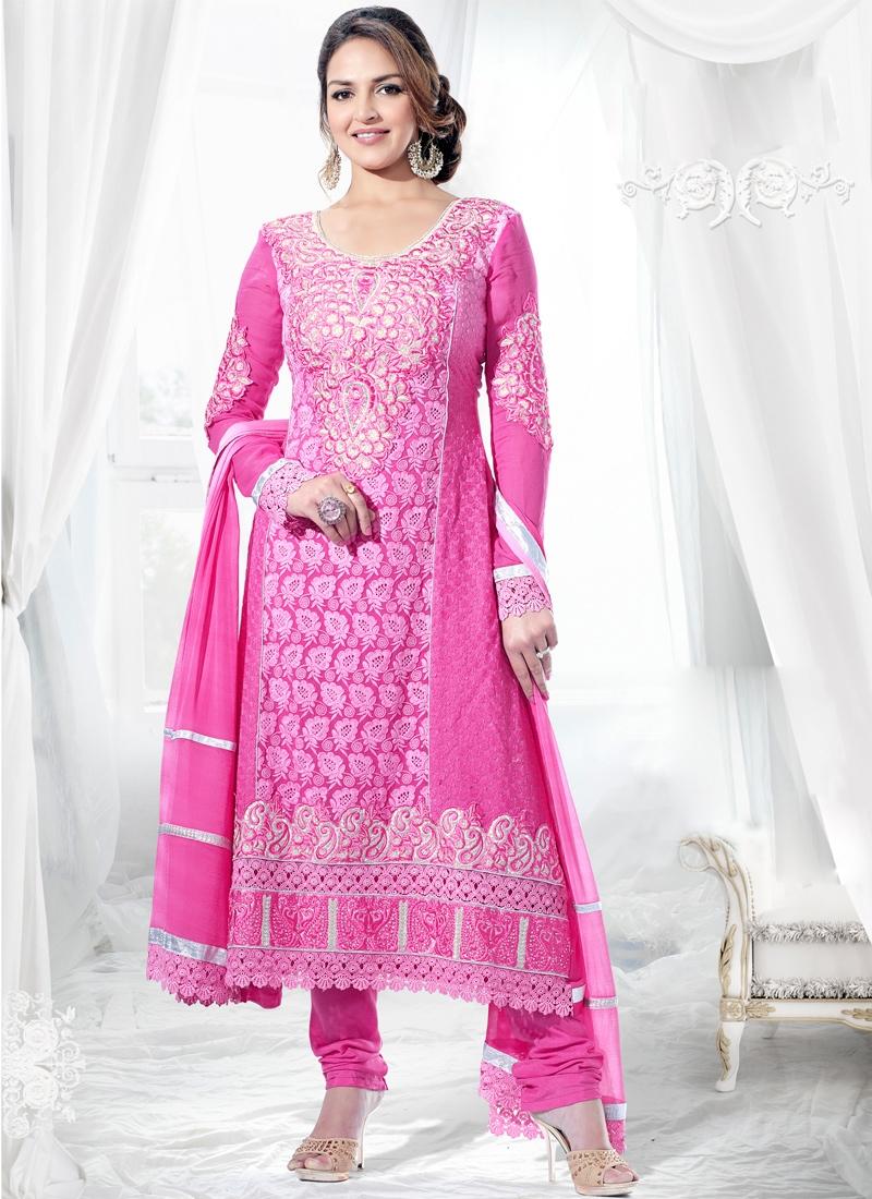 Esha Deol Chicken Enhanced Pakistani Suit
