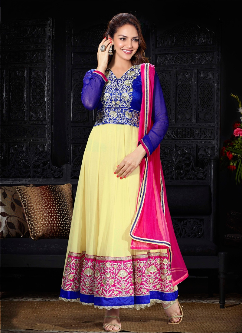 Esha Deol Embroidered Bollywood Suit
