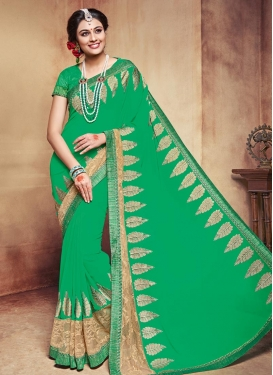 Especial Booti Work Trendy Saree