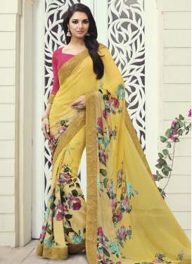 Especial Digital Print Work  Classic Saree