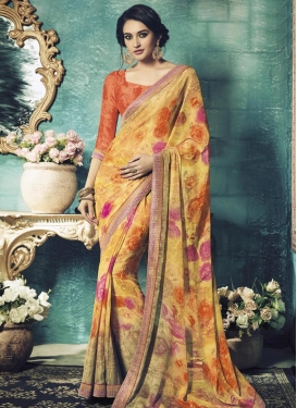 Especial Digital Print Work  Contemporary Saree For Ceremonial