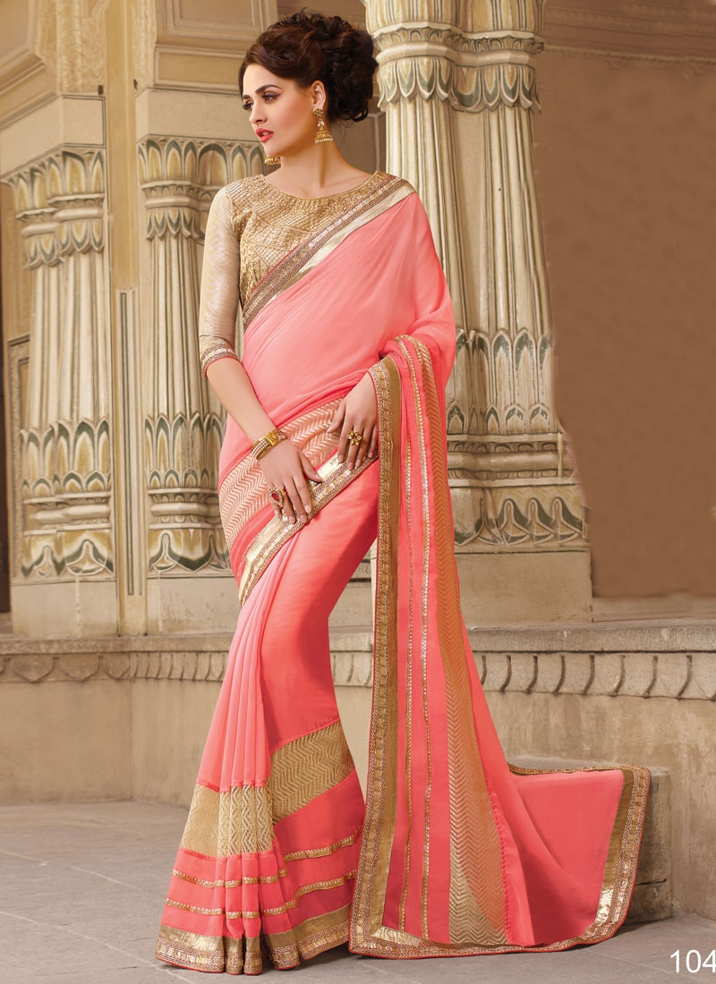 Especial Faux Georgette Party Wear Saree