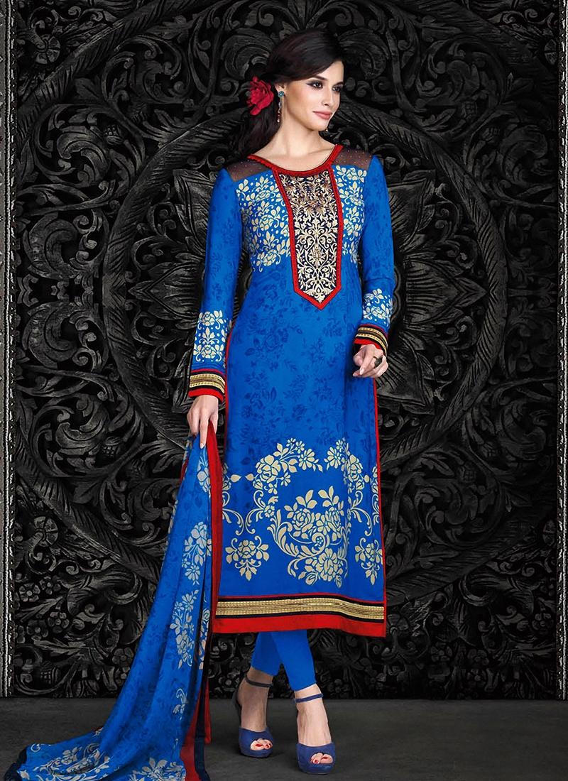 EspecialBlue Color Pant Style Pakistani Suit