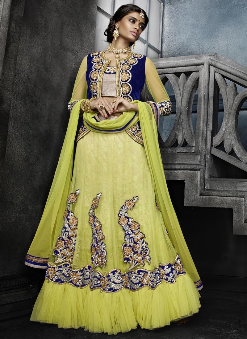 EspecialBooti Work Jacket Style Designer Lehenga Choli