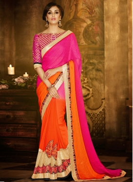 Especial Booti Work Jacquard Party Wear Saree