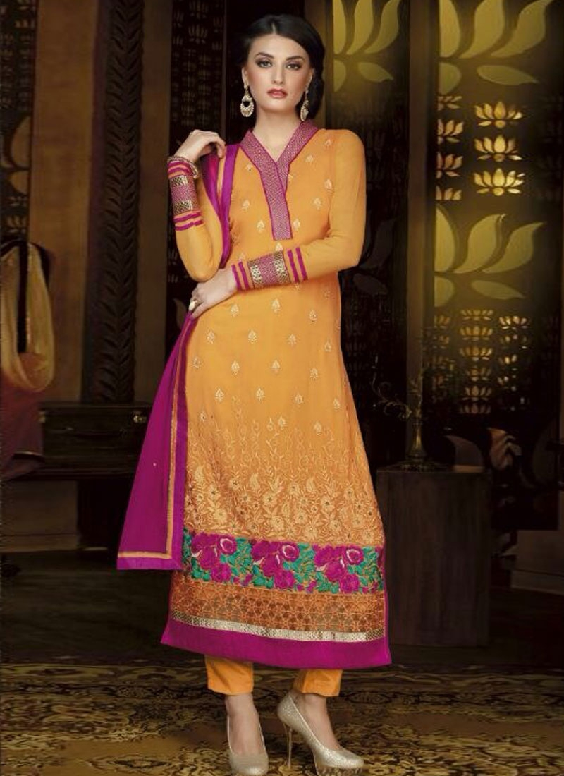 Especial  Floral And Multi Work Party Wear Salwar Kameez