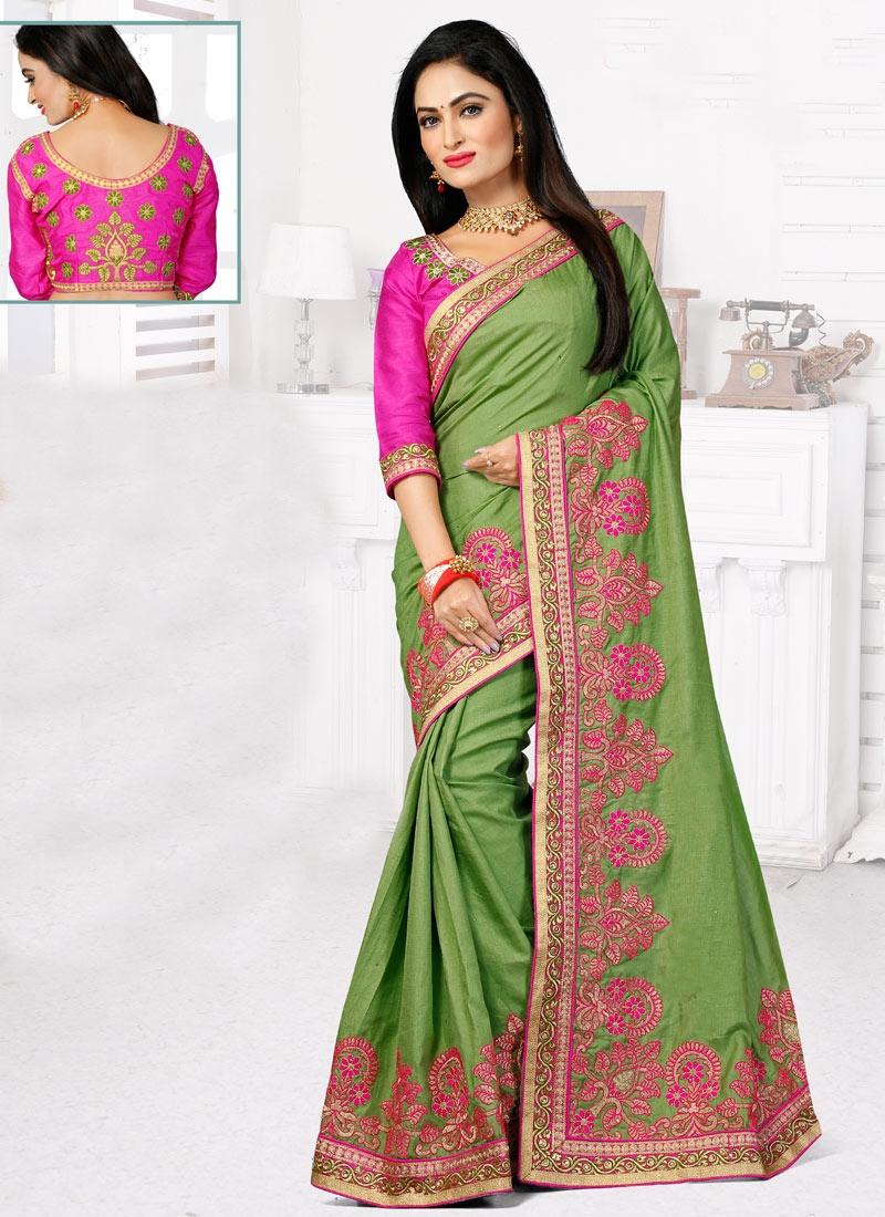 EspecialLace Work Manipuri Silk Designer Saree