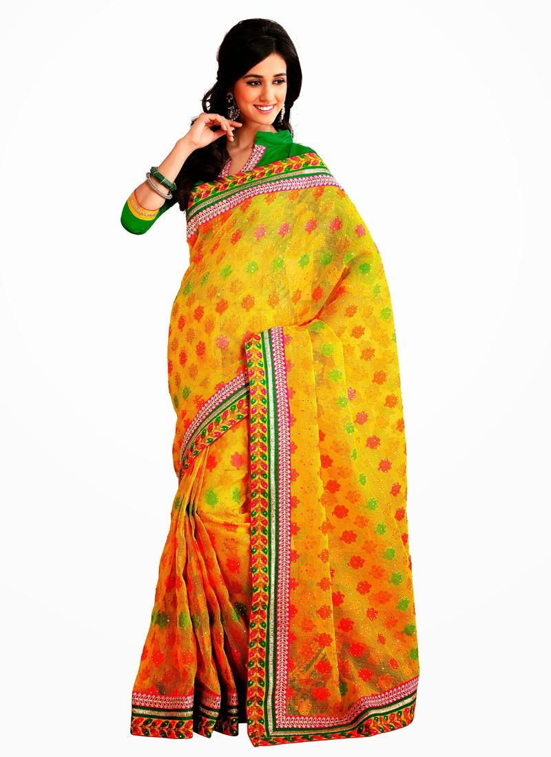 Ethnic Banarasi Silk Party Wear Saree