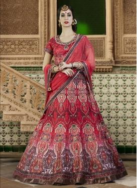 Ethnic Bhagalpuri Silk Digital Print Work A Line Lehenga Choli