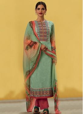 Ethnic  Digital Print Work Pant Style Pakistani Suit