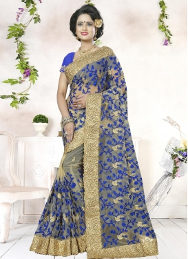 Ethnic Embroidered Work Classic Saree