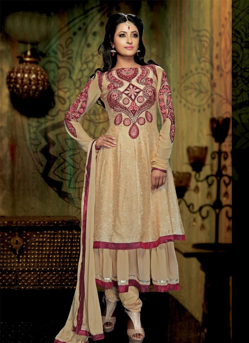 Ethnic Faux Georgette Designer Salwar Kameez
