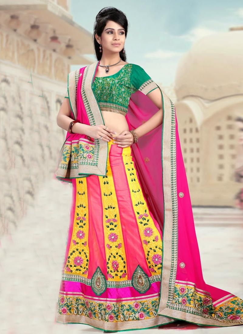 Ethnic Patch Enhanced Wedding Lehenga Choli