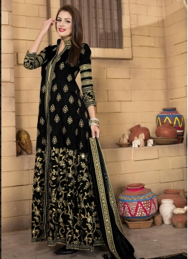 Exceeding Banglori Silk Long Length Designer Suit For Ceremonial