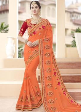 Exceeding Beads Work Designer Contemporary Style Saree