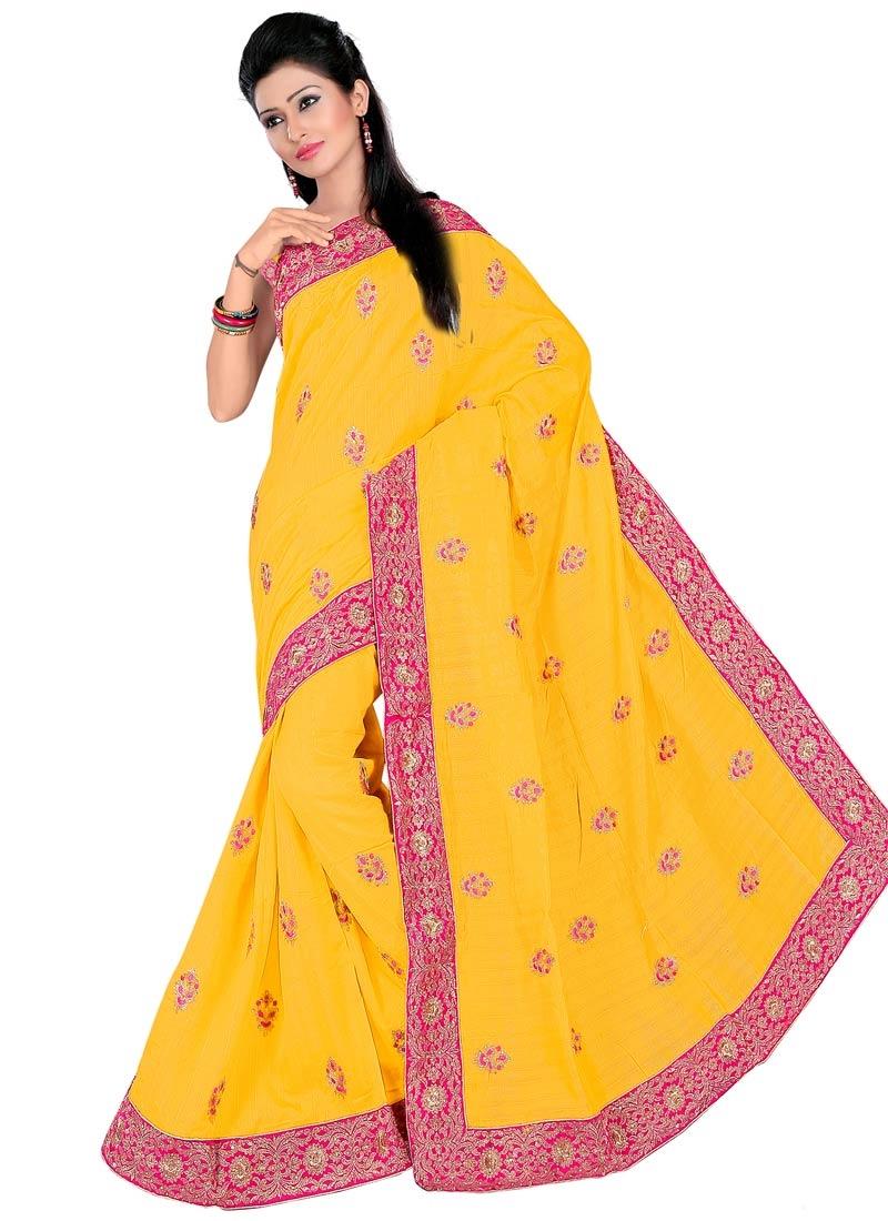 Exceeding Bhagalpuri Silk Stone Work Party Wear Saree