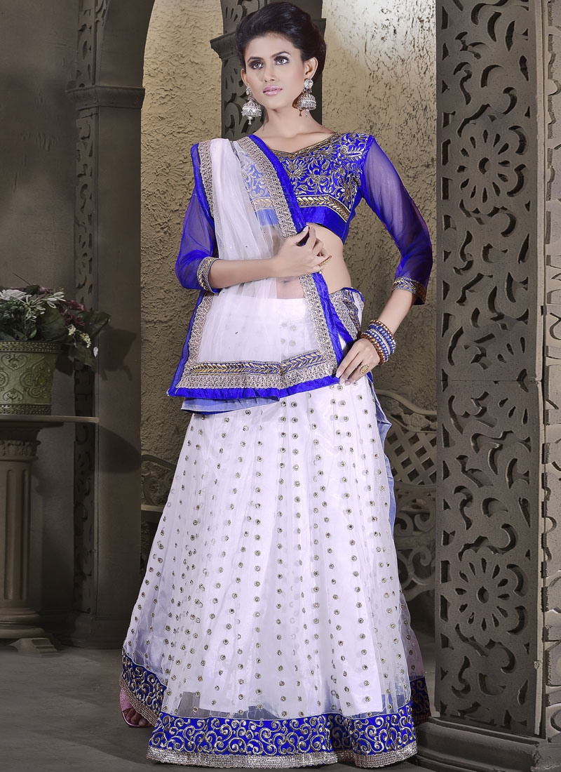 Exceeding Booti And Lace Work Party Wear Lehenga Choli