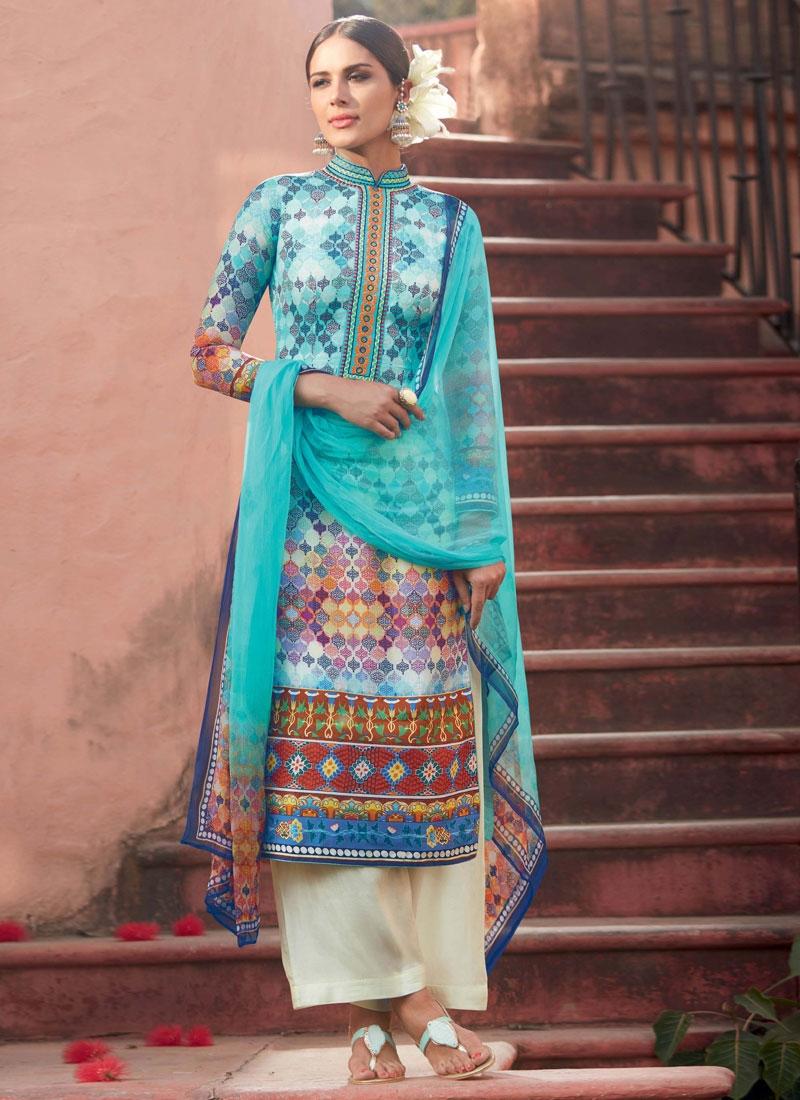 Exceeding Digital Print Work Palazzo Style Pakistani Suit