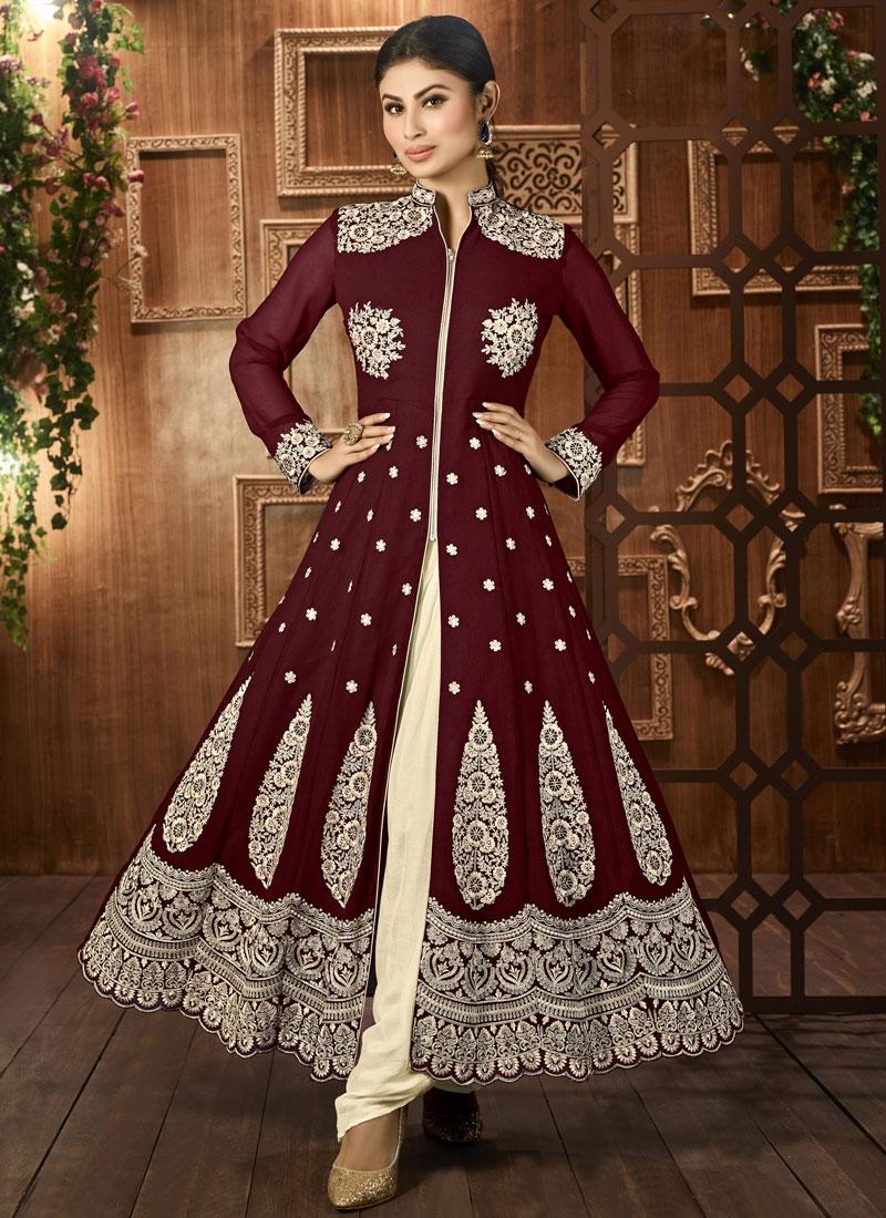 Exceeding Faux Georgette Mouni Roy Designer Salwar Kameez