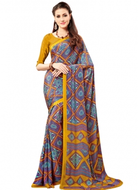 Exceeding  Print Work Traditional Saree