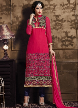 Exceeding Resham And Lace Work Party Wear Salwar Suit