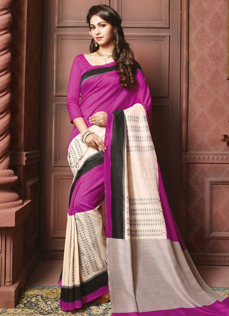 Exceeding Resham Work Art Silk Party Wear Saree