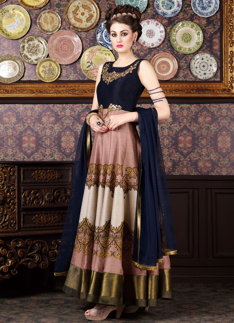 Excellent Digital Print Work Long Length Anarkali Suit