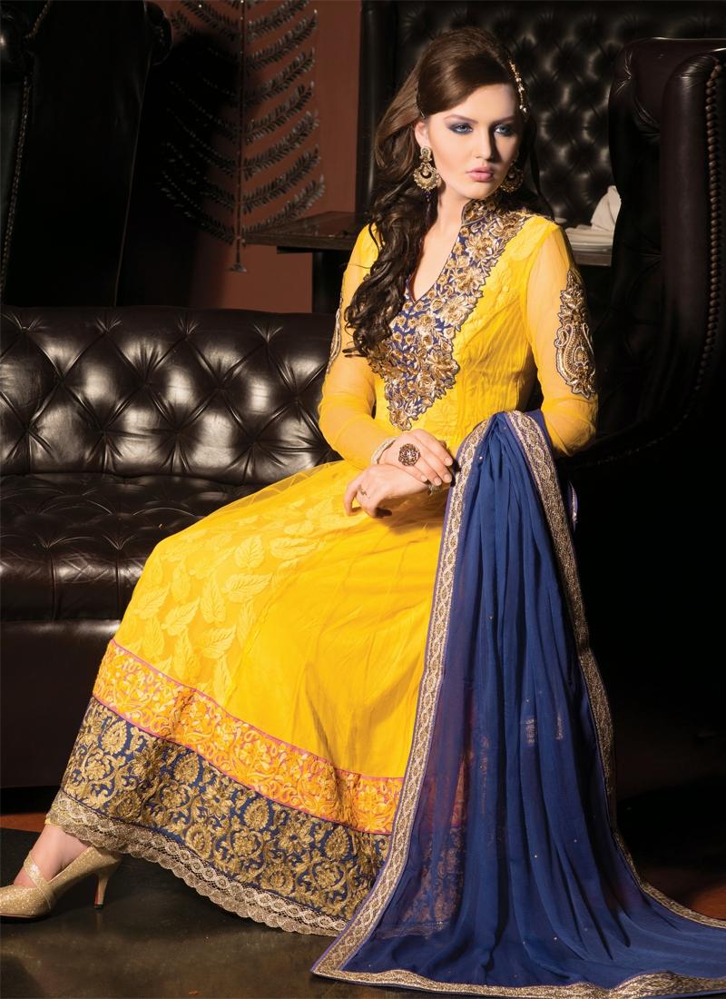 Excellent Lace Work Anarkali Salwar Kameez