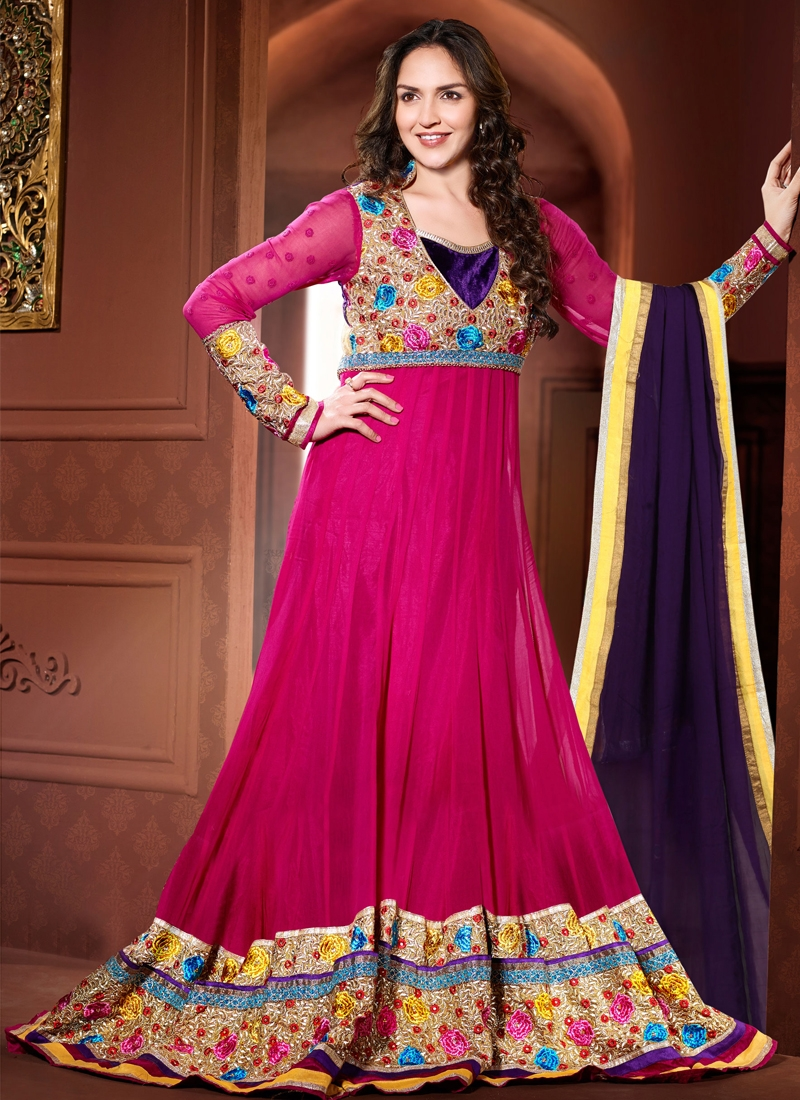 Excellent Stone Work Esha Deol Bollywood Suit