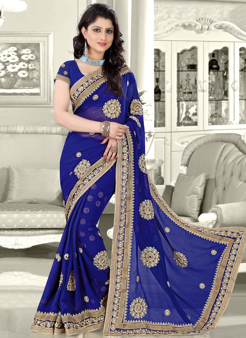 Exceptional Beads And Booti Work Designer Saree