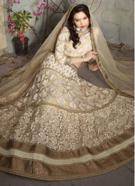 Exceptional Beige Color Designer Lehenga Choli